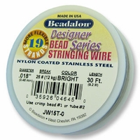 "Beadalon 19 strand  .018"" 30ft"