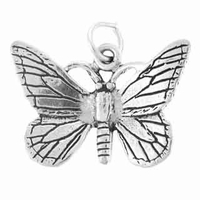 Large Butterfly Sterling Silver Charm