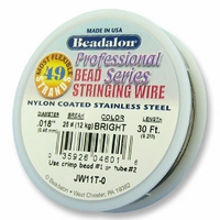 "Beadalon 49 strand .018"" 30ft"