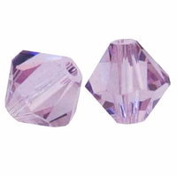 Violet 8mm Faceted Bicone Crystal Beads 16 Inch Strand