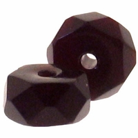 3 x 6mm Garnet Czech Fire Polished Rondelles  (25PK)