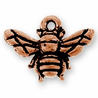 Antique Copper Honey Bee Charm
