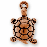 Antique Copper Turtle Charm
