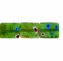 Glass Millefiori 10x8mm Green Flat Rectangular Beads 16-Inch Strand