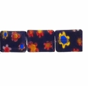 Glass Millefiori 10x8mm Black Flat Rectangular Beads 16-Inch Strand