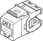 Leviton Quickport® 61110 Category 6 eXtreme connector RJ-45 Jack