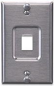 Leviton's QuickPort® Stainless Steel Wallphone Wallplate