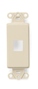 Leviton 41641-I QuickPort® Decora® 1-Port Insert - Ivory