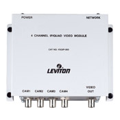 Leviton VSQIP IP/Quad Module for Structured Cabling Video Security