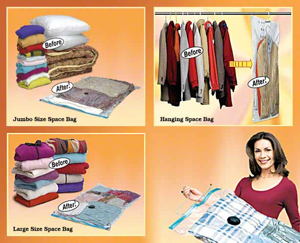Vacuum Seal E Bag Storage System Reduces The For Storing Bulky Clothing And Bedding By 75