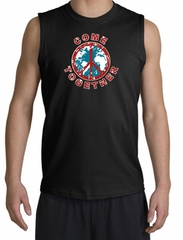 Peace Sign Shirt Come Together Muscle Shirt Black