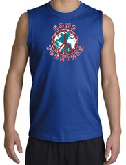 Peace Sign Shirt Come Together Muscle Shirt Royal