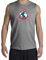Peace Sign Shirt Come Together Muscle Shirt Sports Grey