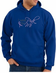 Breast Cancer Awareness Hoodie - I Wear Pink For Me Royal Hoody