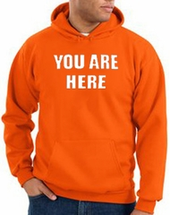 You Are Here Hoodie Orange Hoody