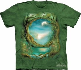 Tree Shirt Tie Dye Mythical Moon T-shirt Adult Tee