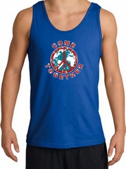 COME TOGETHER World Peace Sign Symbol Adult Tanktop - Royal
