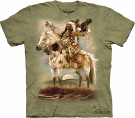 Indian Chief Shirt Tie Dye T-shirt Eagle Spirit Adult Tee