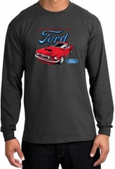 Ford Mustang Long Sleeve Shirt - Chairman Of The Ford Charcoal Tee