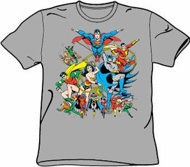 Justice League T-shirt - Justice League Assemble Adult Tee