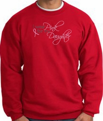 Breast Cancer Sweatshirt I Wear Pink For My Daughter Red Sweat Shirt