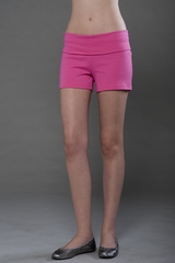 Made in the USA Ladies Cotton Spandex Fold Over Shorts