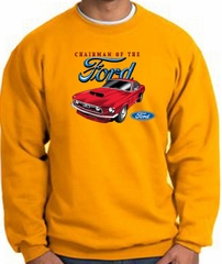 Ford Mustang Sweatshirt - Chairman Of The Ford Adult Gold Sweat Shirt