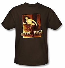 Betty Bettie Page Shirt Over Exposed Coffee T-shirt