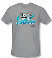 Chilly Willy T-shirt TV Show Slap Shot Silver Slim Fit Tee Shirt