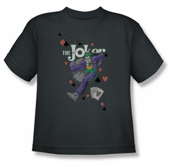 Batman Kids T-Shirt - Always A Joker Youth Charcoal Tee