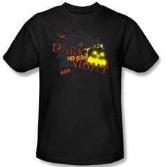 Batman Kids T-Shirt - Dark And Scary Night Youth Black Tee