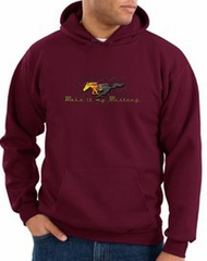 Ford Mustang Hoodie Sweatshirt - Make It My Mustang Grill Maroon Hoody