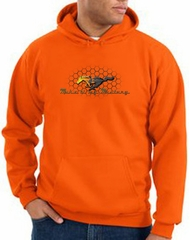 Ford Mustang Hoodie Sweatshirt - Make It My Mustang Grill Orange Hoody