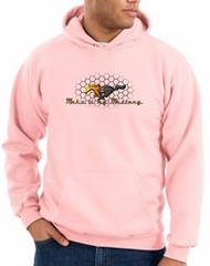 Ford Mustang Hoodie Sweatshirt - Make It My Mustang Grill Pink Hoody