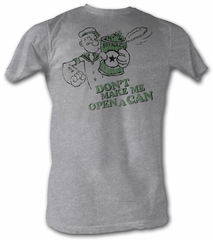Popeye T-shirt Dont Make Me Open A Can Of Spinach Adult Tee Shirt