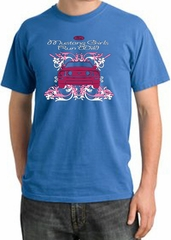 Ford Mustang Pigment Dyed T-Shirt Girls Run Wild Medium Blue Tee Shirt