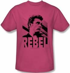 James Dean T-shirt Rebel Rebel Adult Hot Pink Tee Shirt