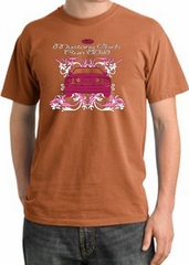Ford Mustang Pigment Dyed T-Shirt Girls Run Wild Burnt Orange Shirt