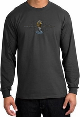 Ford Mustang Cobra Long Sleeve Shirt - Ford Motor Grill Charcoal Tee