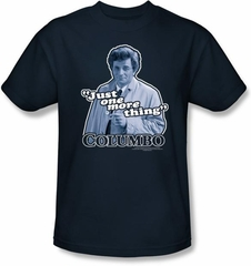 Columbo T-shirt Just One More Thing Youth Navy Blue Tee