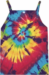 Spiral Adult Women Rainbow Tie Dye Tank Top