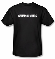 Criminal Minds Logo T-shirt - Crime Drama TV Series Black Tee Shirt