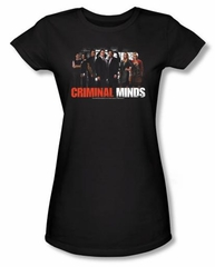 Criminal Minds Juniors T-shirt The Brain Trust Black Tee Shirt