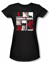Criminal Minds Juniors T-shirt Character Boxes Black Tee Shirt