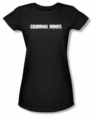 Criminal Minds Logo Juniors T-shirt TV Crime Drama Black Tee Shirt