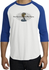 Ford Mustang Cobra Raglan Shirt - Ford Motor Company Grill White/Royal