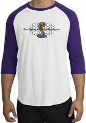 Ford Mustang Cobra Raglan Shirt - Ford Motor Grill Adult White/Purple