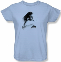 James Dean Ladies T-shirt Picture This Too Light Blue Tee Shirt