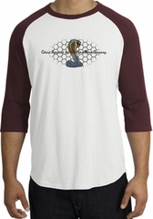 Ford Mustang Cobra Raglan Shirt - Ford Motor Grill Adult White/Maroon