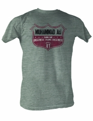 Muhammad Ali T-shirt Adult Ali Crest Gray Heather Tee Shirt